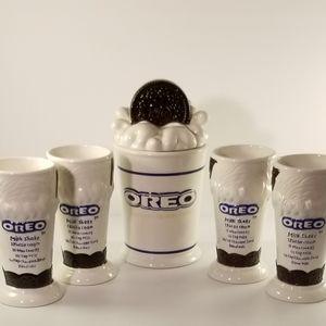 Vintage Oreo's Cookie Jar and Shake Mug Set